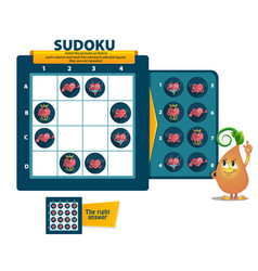 Sudoku game heart iq vector