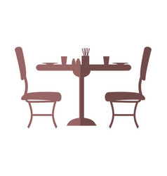 Table and chairs icon vector