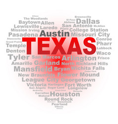 Texas heart vector