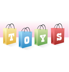 toys shopping bags vector image