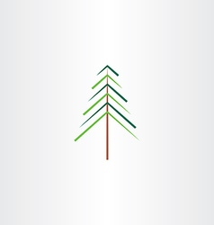 Tree christmas symbol vector