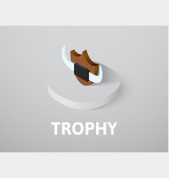 trophy isometric icon isolated on color vector image