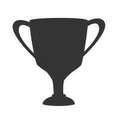 Trophy win champion isolated vector