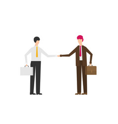 two business men shaking hands to seal a deal vector image