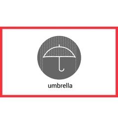 Umbrella contour outline icon vector image