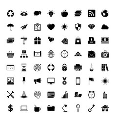 Universal outlined icons vector