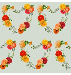 Vintage colorful floral background vector