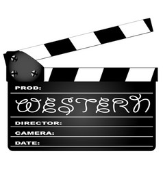 Western movie clapperboard vector