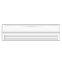 White air conditioner isolated on background vector