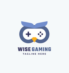 Wise gaming abstract sign symbol or logo vector