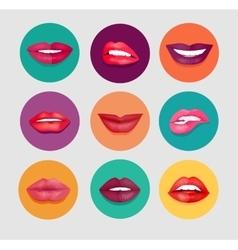 Women Lips Set vector