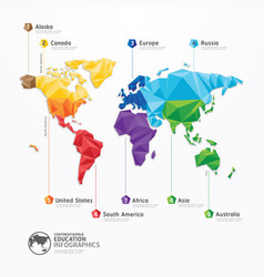 world map infographics geometric concept design vector image