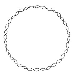wreath circle frame decoration for greeting card vector image
