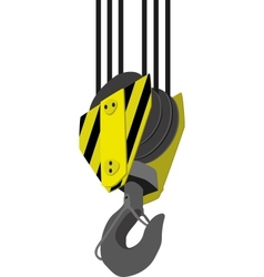 crane hook vector image