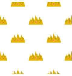 Crown pattern flat vector