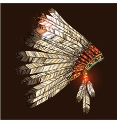 Indian Tribal Headdress vector image vector image