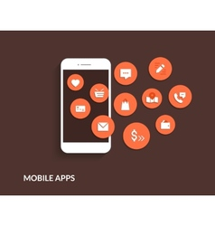 Mobile apps vector image vector image
