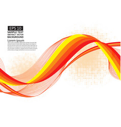 orange line wave geometric abstract background vector image vector image