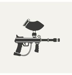 paintball gun Black and white vector image