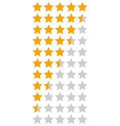 yellow orange 5 star rating infographic vector image vector image