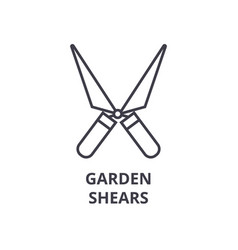 garden shears line icon outline sign linear vector image