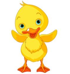 Happy Duckling vector image vector image