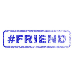 hashtag friend rubber stamp vector image vector image