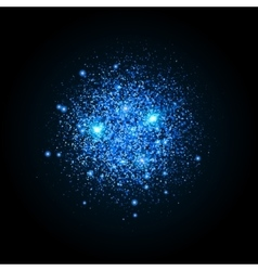 Shiny particles shape Sparkling background vector image vector image