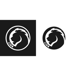 Silhouette of an lion monochrome logo vector image vector image