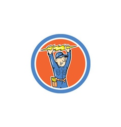 Thunderbolt Toolman Electrician Lightning Bolt vector image vector image