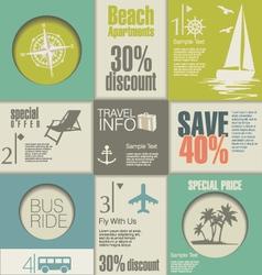 Travel Modern design template vector image