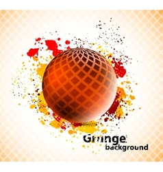 Background with sphere vector image vector image