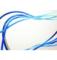 Blue modern swoosh abstract background vector image vector image