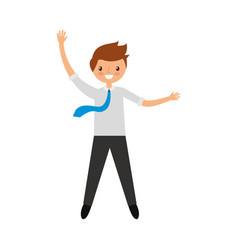 businessman celebrating avatar character vector image