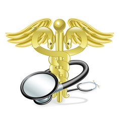 caduceus stethoscope medical concept vector image