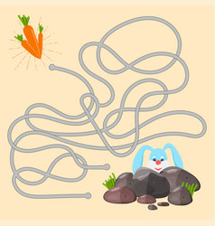 maze game educational labyrinth for children with vector image