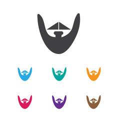 Of coiffeur symbol on beard vector