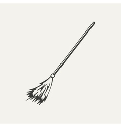 broomstick Black and white style vector image
