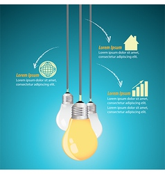 Creative Template with light bulb vector image