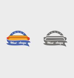 hotdog badge labels logos or icons design vector image