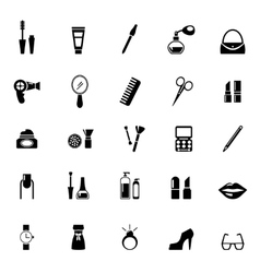 Make up icons vector image