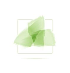 Three green watercolor brush strokes abstract eco vector image vector image