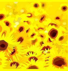 abstract painted a field of yellow flowers vector image