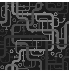 Abstract piping seamless pattern vector