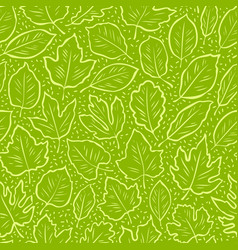 abstract seamless pattern with leaves background vector image