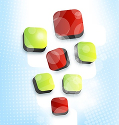 Abstract squares blank background for design vector image