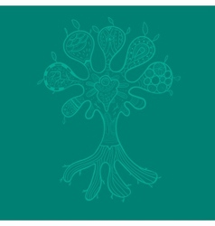 Abstract tree with ornaments for your design vector image