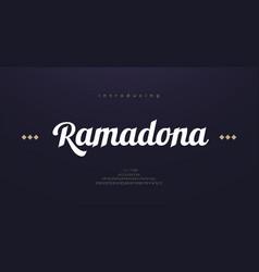 arabic style font alphabet letters elegant vector image