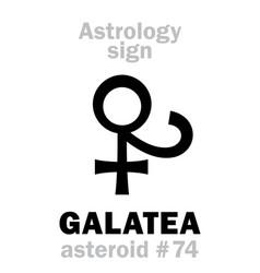 astrology asteroid galatea vector image