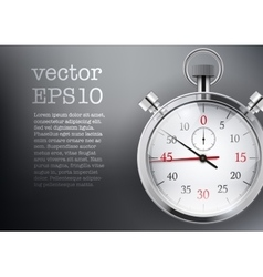 Background with analog stopwatch vector image